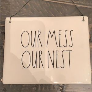 🎀🆕Rae Dunn OUR MESS OUR NEST Hanger